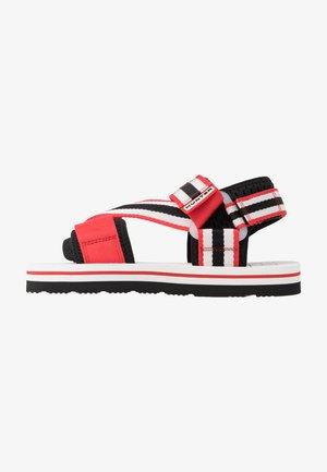 WOMENS ORIGINAL BEACH - Sandals - hunter red/hunter white/black