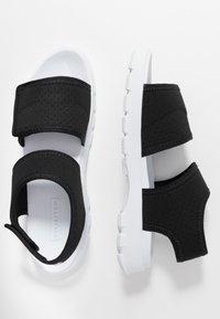 Hunter ORIGINAL - WOMENS ORIGINAL OUTDOOR - Sandals - black - 3