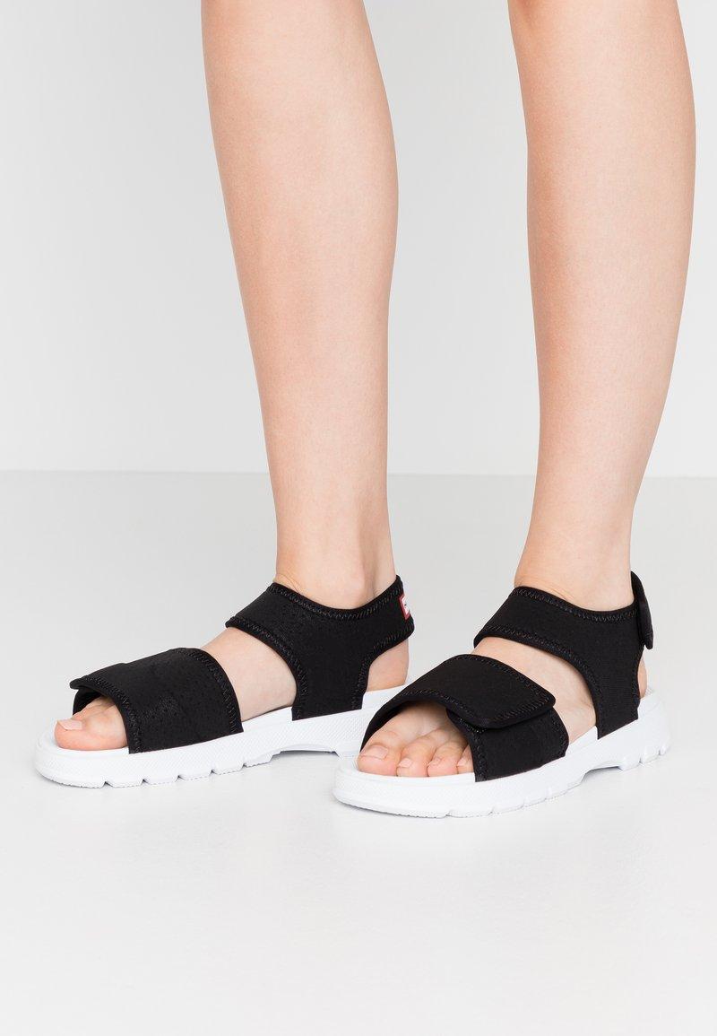 Hunter ORIGINAL - WOMENS ORIGINAL OUTDOOR - Sandals - black