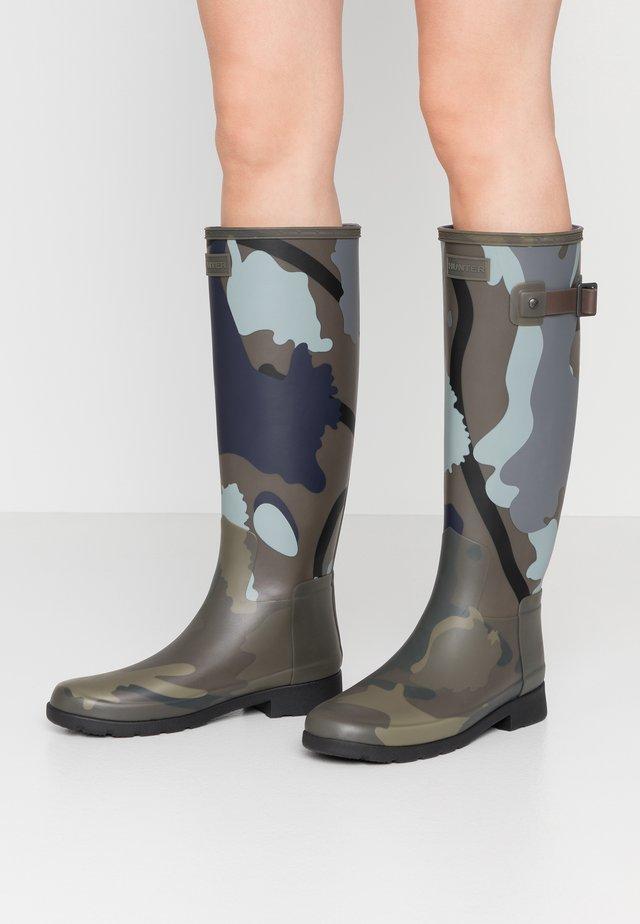 WOMENS REFINED SLIM FIT BOOTS - Wellies - smoke/grey/black
