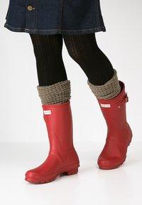 Hunter ORIGINAL - WOMENS ORIGINAL SHORT - Wellies - military red - 0