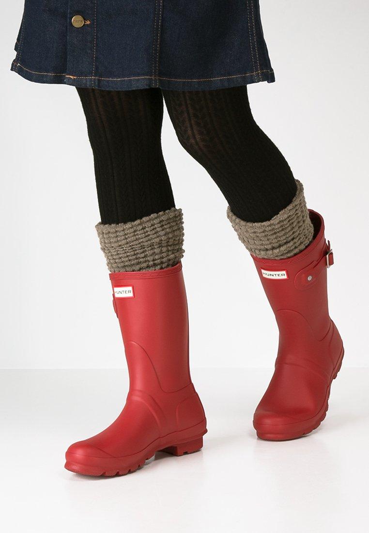 Hunter ORIGINAL - WOMENS ORIGINAL SHORT - Wellies - military red