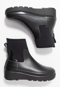 Hunter ORIGINAL - WOMENS REFINED CREEPER NEO CHELSEA - Wellies - black - 3