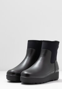 Hunter ORIGINAL - WOMENS REFINED CREEPER NEO CHELSEA - Wellies - black - 4
