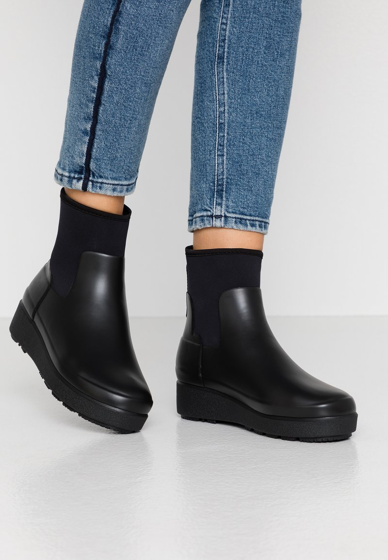 Hunter ORIGINAL - WOMENS REFINED CREEPER NEO CHELSEA - Wellies - black