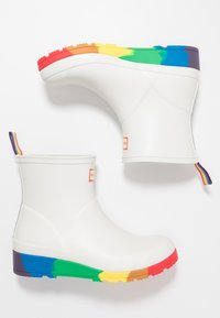 Hunter ORIGINAL - ORIGINAL PRIDE PLAY BOOTS FLATFORM - Wellies - white - 3