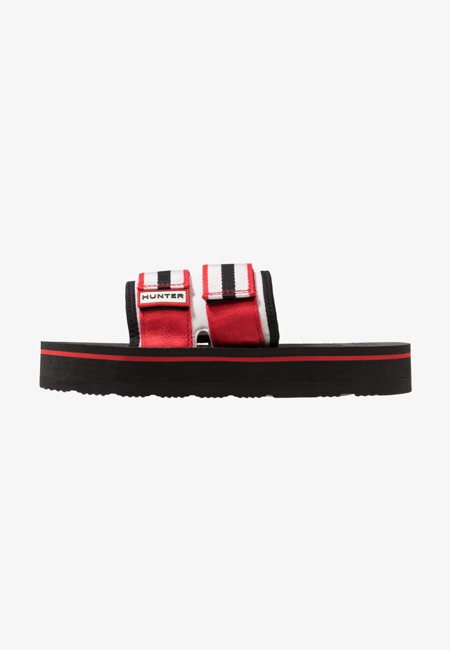 MENS ORIGINAL BEACH FLATFORM - Pantofle - red/white/black