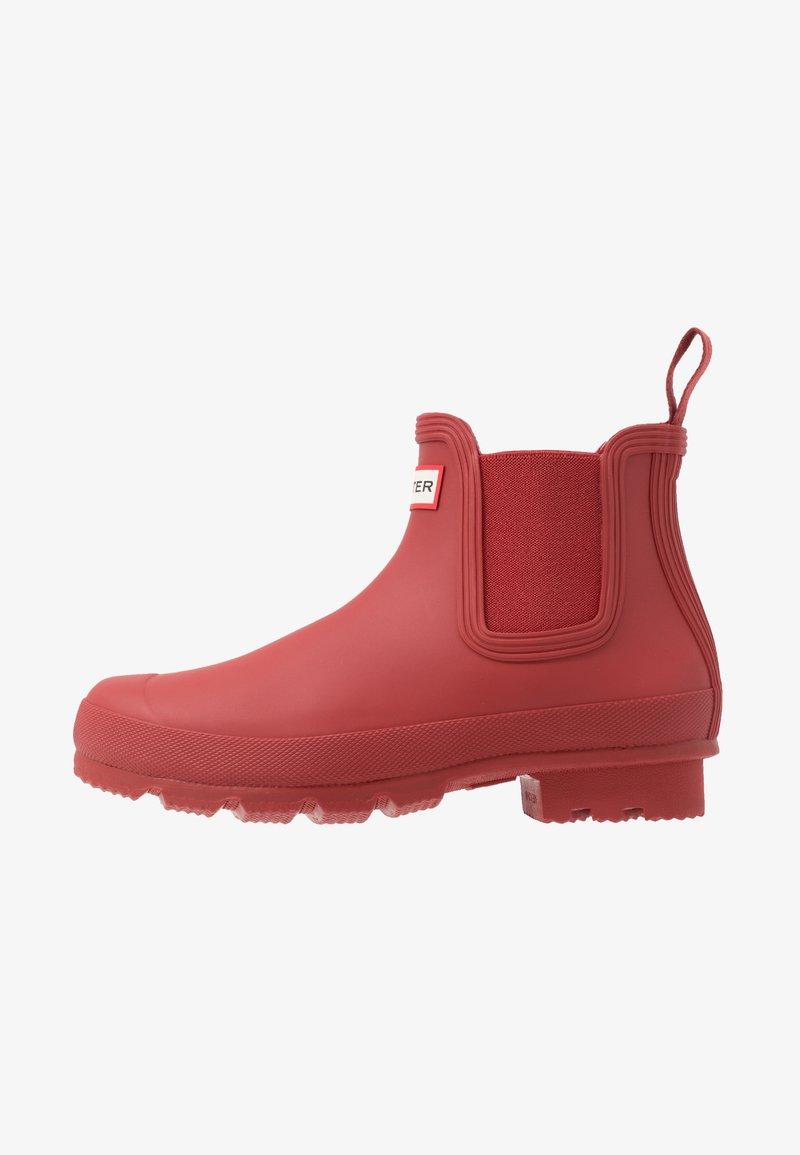 Hunter - MENS ORIGINAL CHELSEA - Stivali di gomma - military red