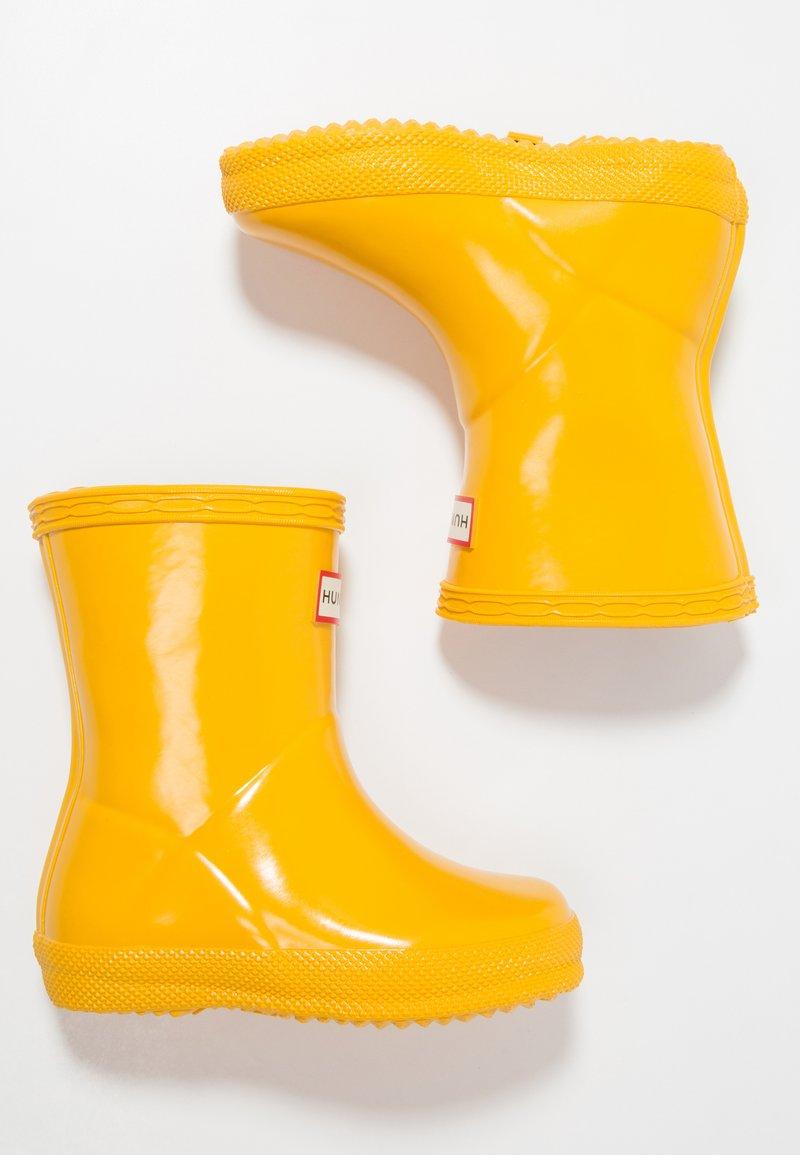 Hunter - KIDS FIRST GLOSS - Holínky - yellow