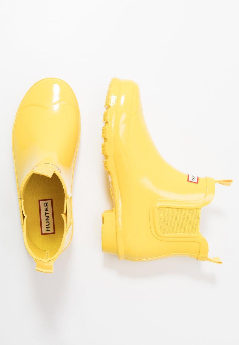 Hunter - ORIGINAL KIDS CHELSEA GLOSS - Stivali di gomma - lightening yellow