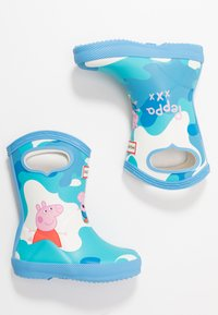 Hunter - KIDS FIRST CLASSIC PULL  ON PEPPA MUDDY PUDDLES BOOT - Holínky - forget me not