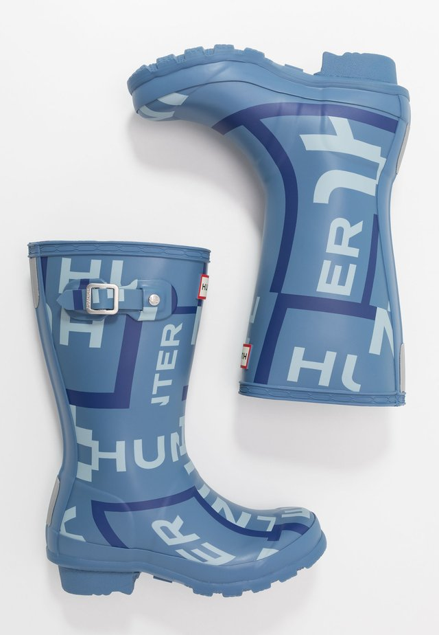 ORIGINAL KIDS EXPLODED LOGO BOOTS - Wellies - blue