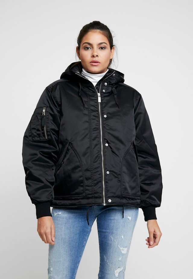 WOMENS REFINED INSULATED DRAWSTRING - Bomber Jacket - black