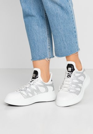 Sneakers laag - metal/white