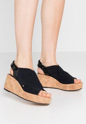 Sandály na platformě - schwarz