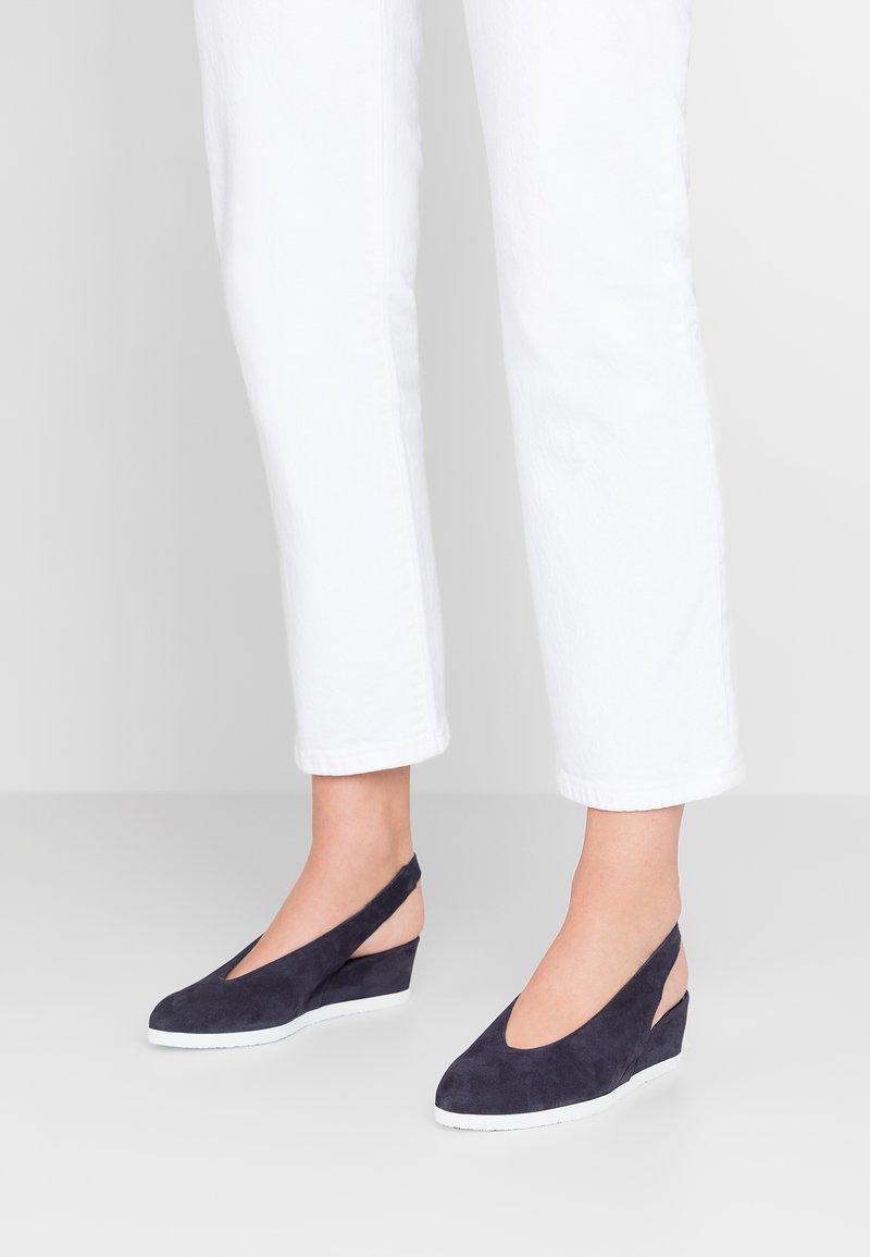 Högl - Sandály na klínu - blue