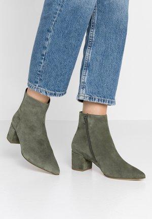 Classic ankle boots - khaki
