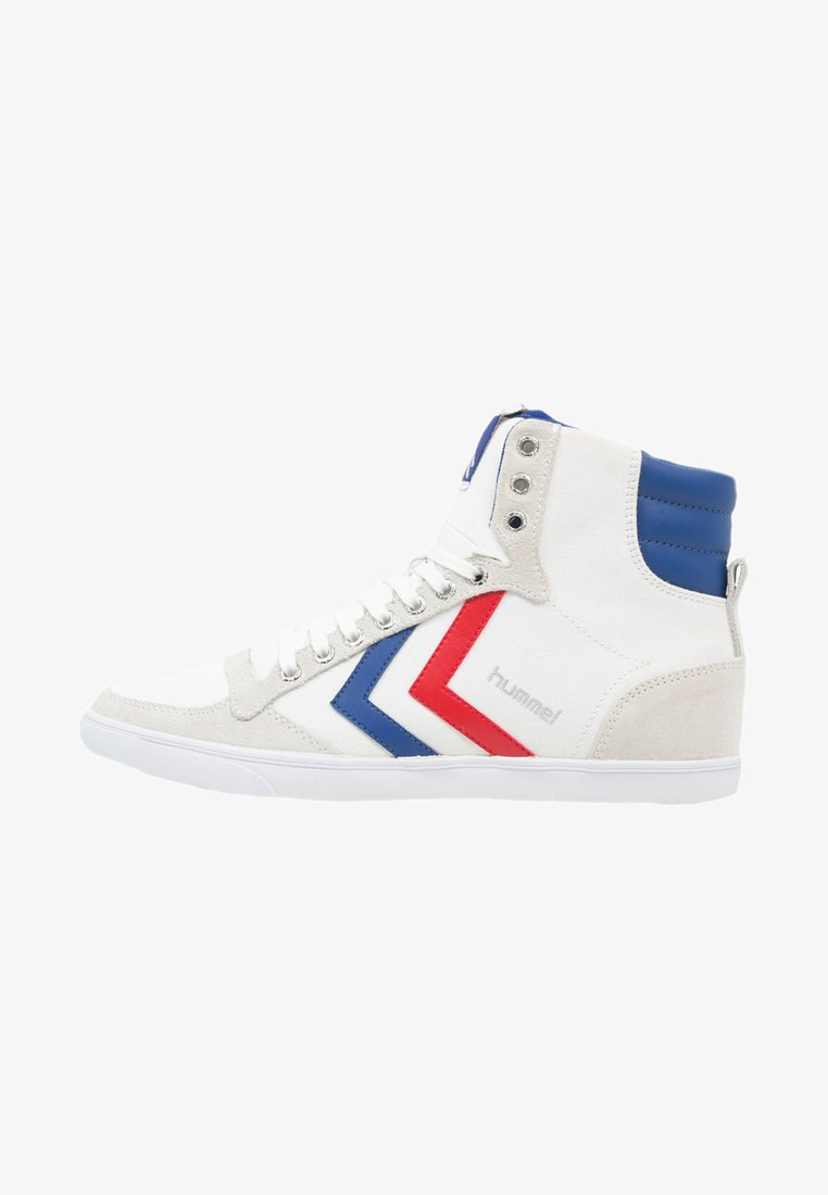 Hummel - SLIMMER STADIL - Sneakers high - white/blue/red