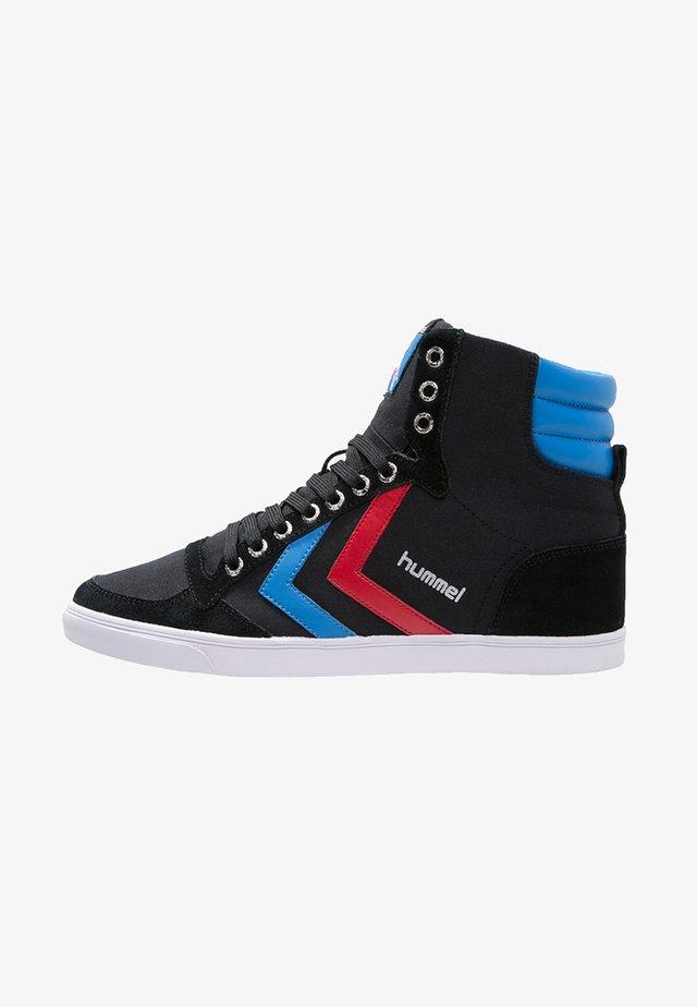 SLIMMER STADIL - Sneakers high - black/blue/red