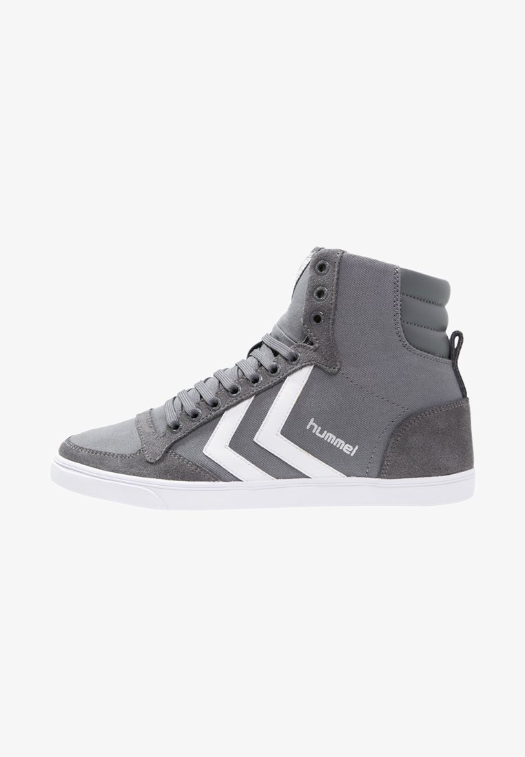 Hummel - SLIMMER STADIL - High-top trainers - castle rock/white