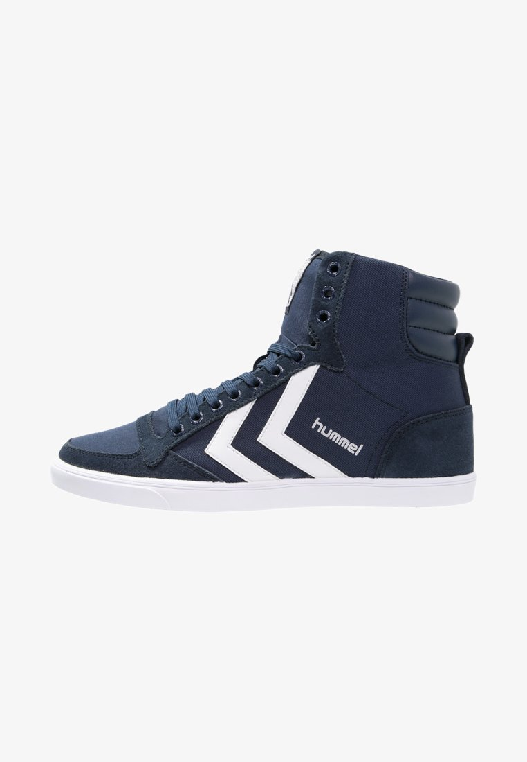 Hummel - SLIMMER STADIL - Sneaker high - dress blue/white