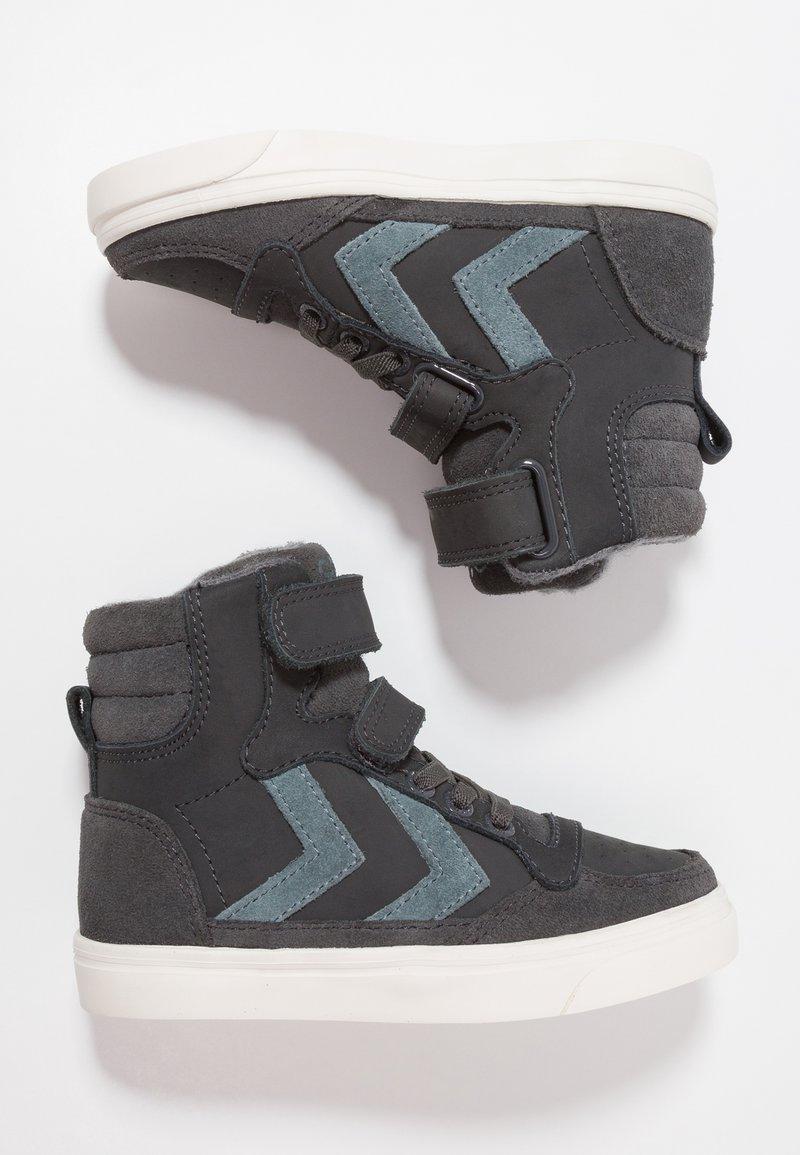 Hummel - STADIL OILED - Sneakers high - asphalt