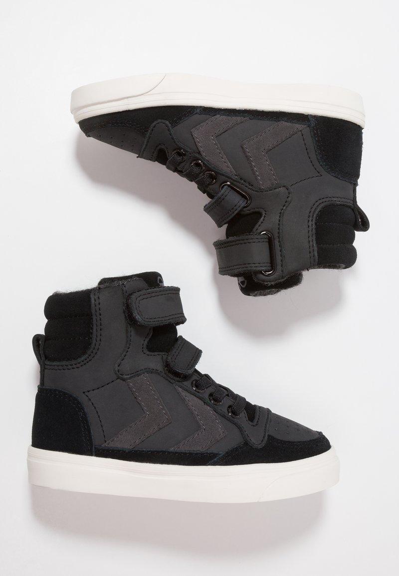 Hummel - STADIL OILED - Sneakers hoog - black
