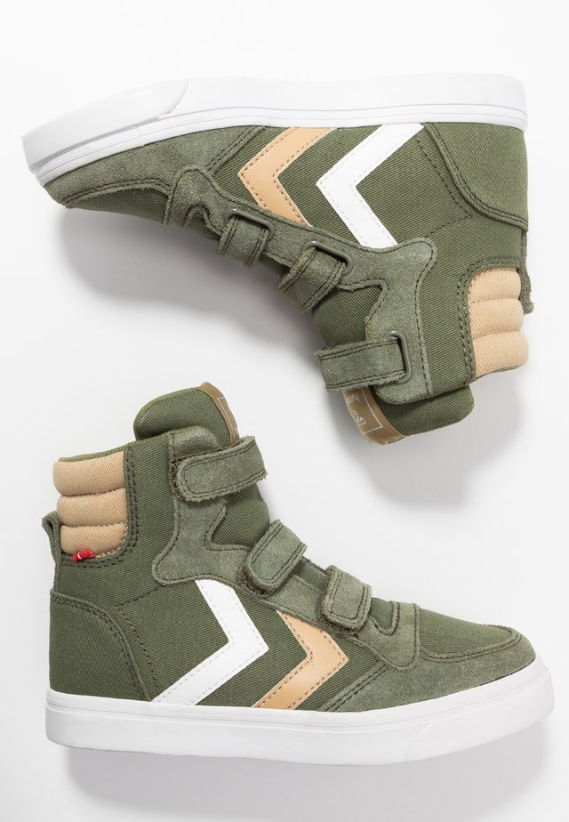 STADIL - High-top trainers - deep lichen green