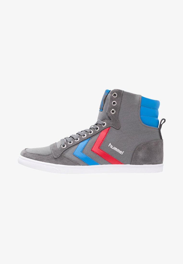 Hummel - SLIMMER STADIL - Zapatillas altas - castle rock/ribbon red/brilliant blue