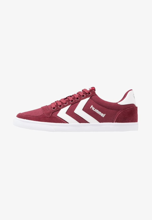 SLIMMER STADIL LOW - Sneakers - bordeaux/weiß