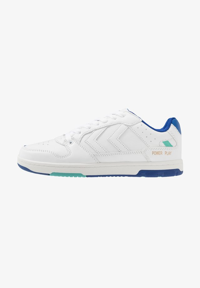 POWER PLAY - Zapatillas - white/blue/green