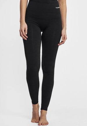 HMLCLEA - Leggings - black melange