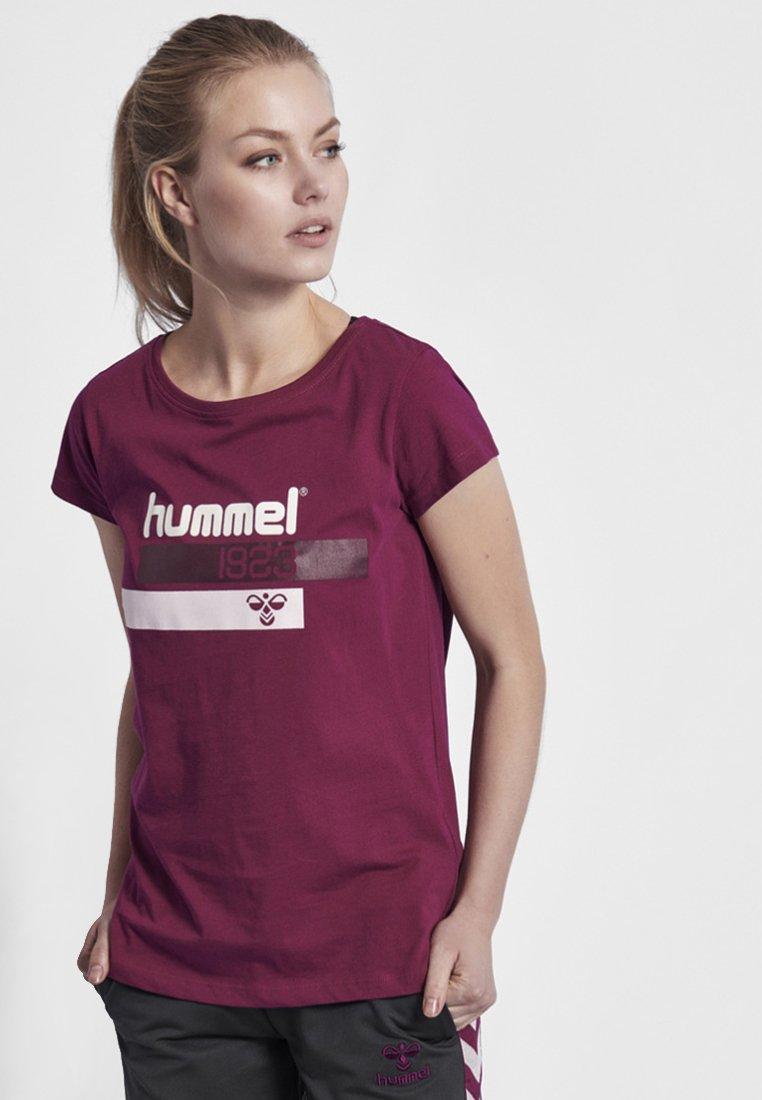 Hummel - HMLJADE T-SHIRT S/S - T-Shirt print - rasberry radiance