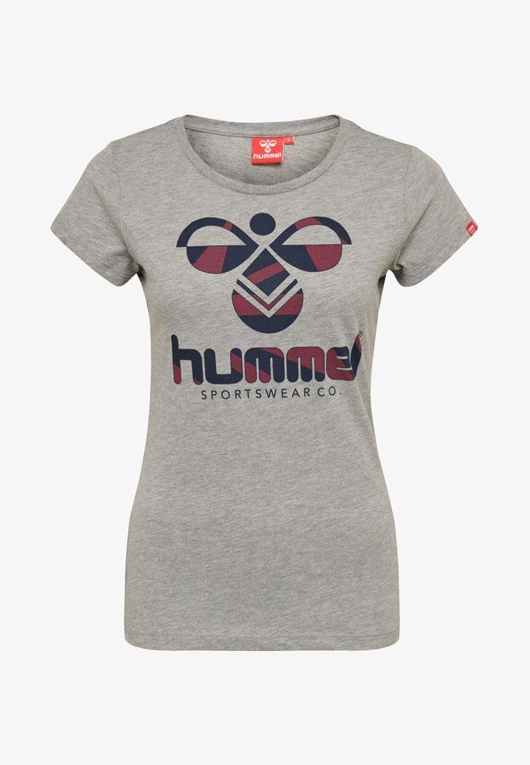 Hummel - T-Shirt print - gray melange/andean toucan
