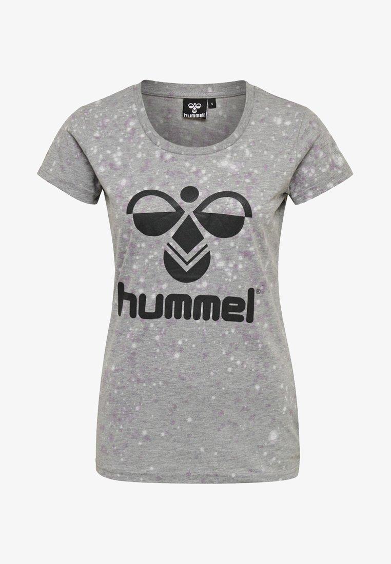 Hummel - T-Shirt print - black/iron gate