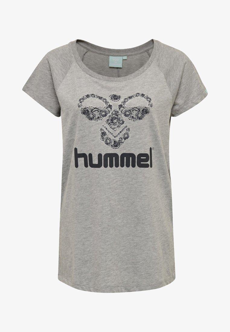 Hummel - T-Shirt print - gray melange / andean toucan