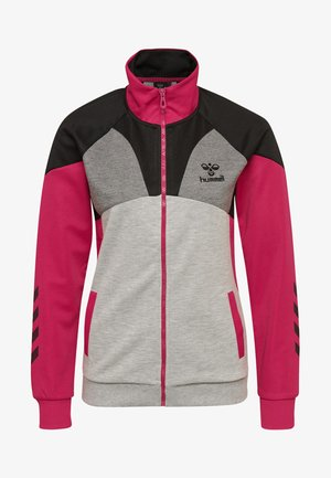 LENORA  - Trainingsjacke - grey melange/pink