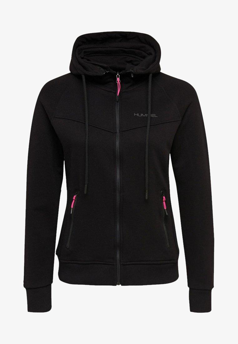 Hummel - Zip-up hoodie - black