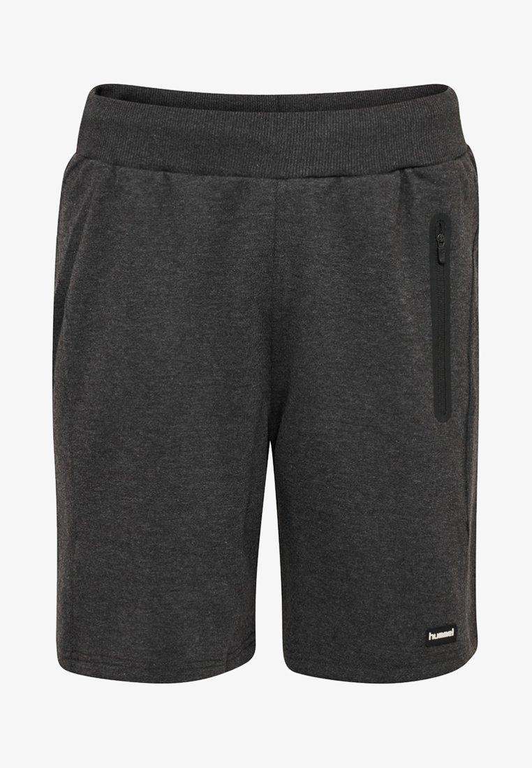 Hummel - HMLURDAN - Shorts - black melange