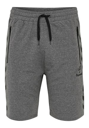 RAY  - Tracksuit bottoms - dark grey melange