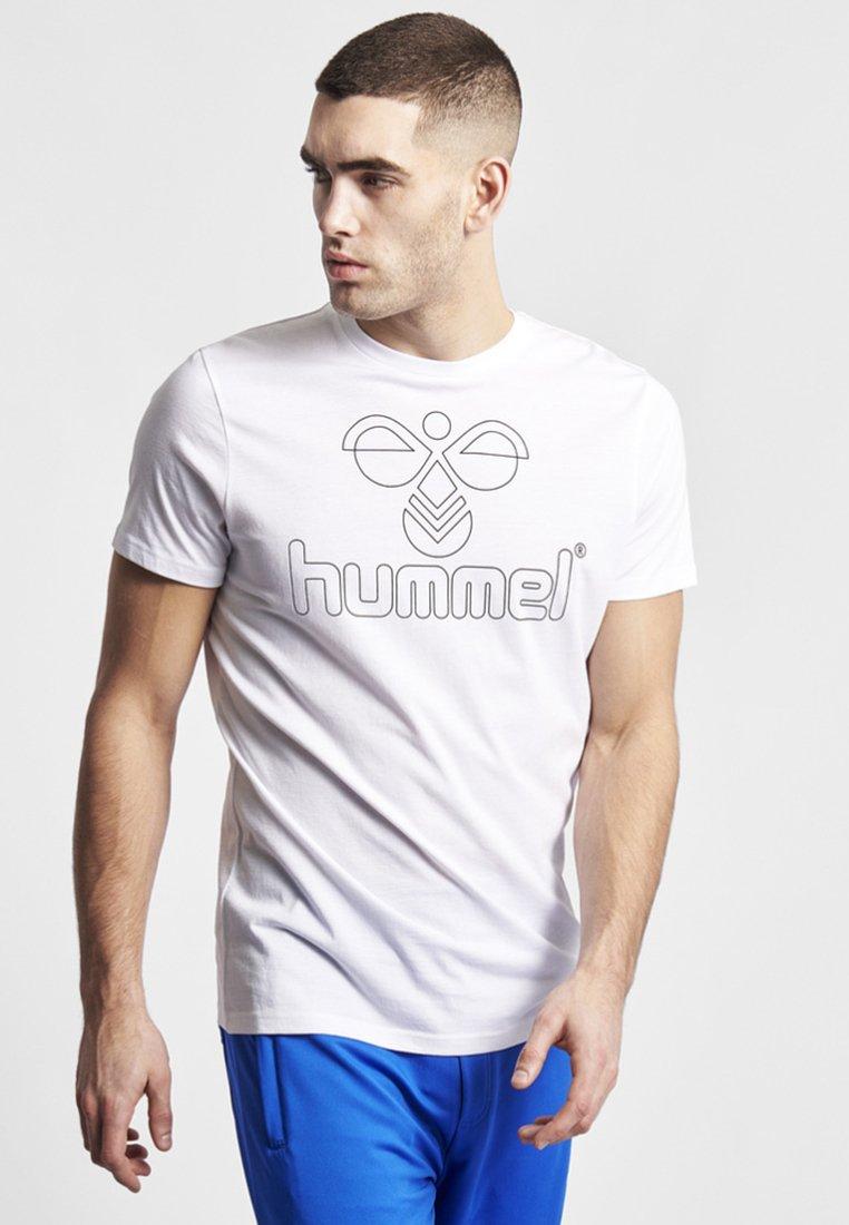 Hummel - HMLETHAN SS - Print T-shirt - white