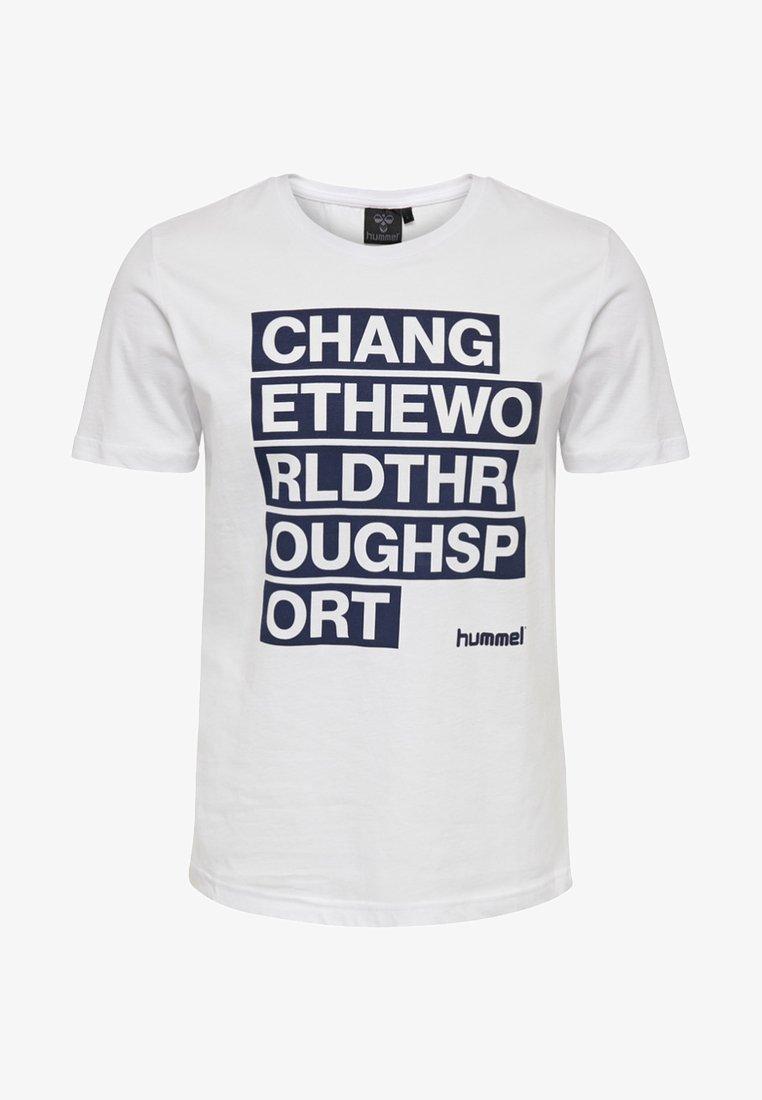 Hummel - HMLREECE SS TEE - Print T-shirt - white