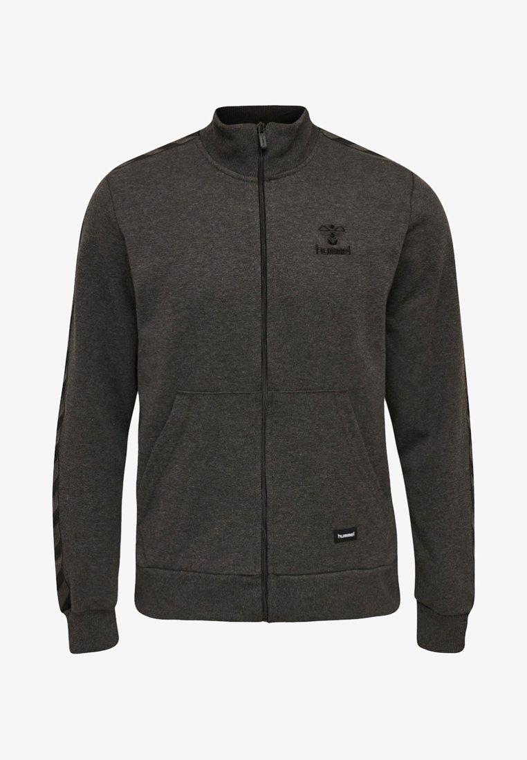 Hummel - HMLASBORN - Zip-up hoodie - mottled black