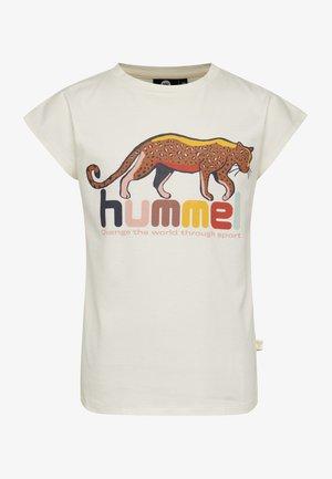 INA - T-shirt print - whisper white