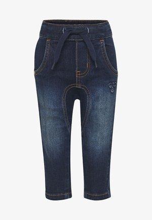 HMLLEO - Straight leg jeans - dark denim