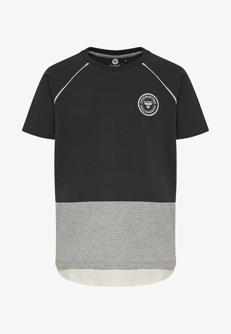Hummel - HMLSETH  - T-shirts print - anthracite