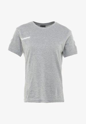 HMLGO  - T-shirt med print - grey melange