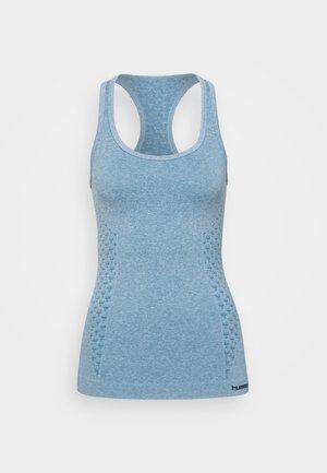 CLASSIC BEE SEAMLESS - Treningsskjorter - faded denim melange