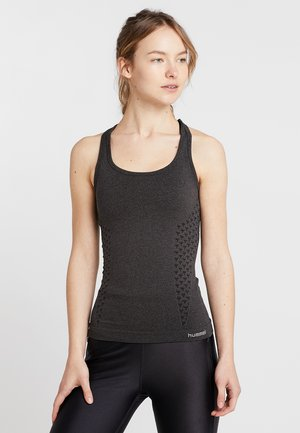CLASSIC BEE SEAMLESS - Sports shirt - black melange