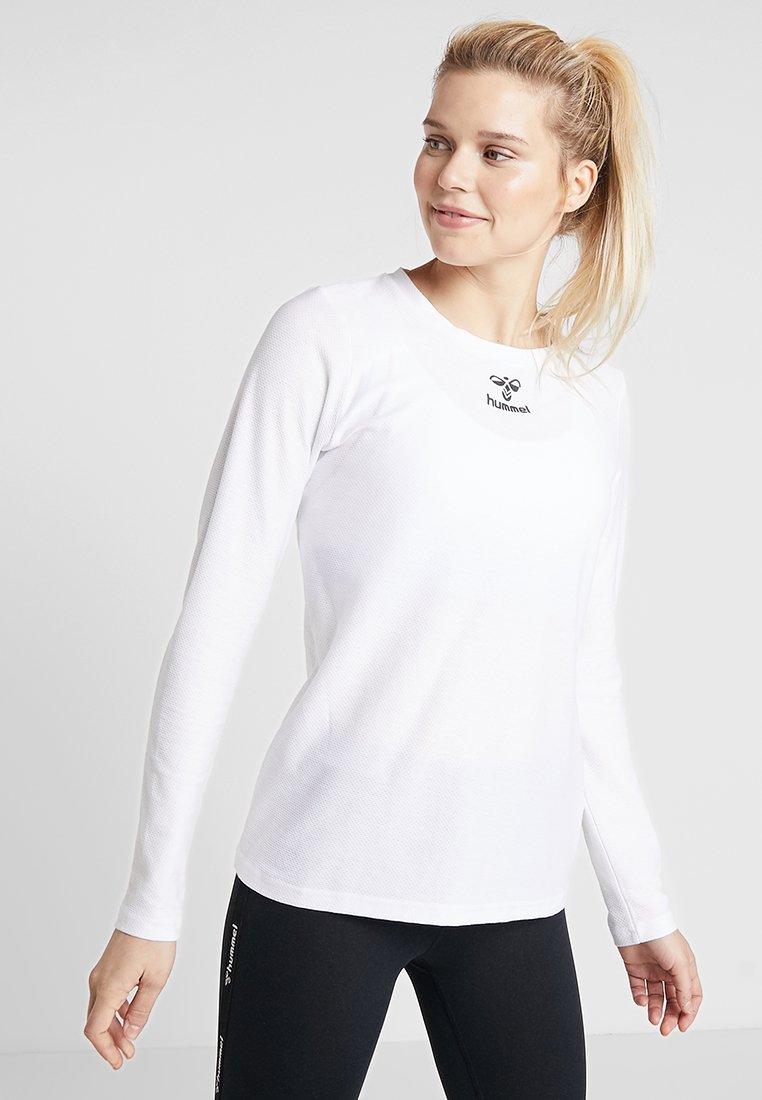 Hummel - FRAME - Pitkähihainen paita - white